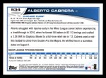 2013 Topps #534  Alberto Cabrera  Back Thumbnail