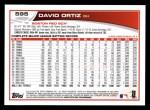 2013 Topps #595  David Ortiz  Back Thumbnail