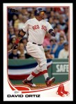 2013 Topps #595  David Ortiz  Front Thumbnail