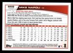 2013 Topps #659  Mike Napoli  Back Thumbnail