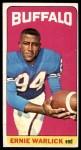 1965 Topps #44  Ernie Warlick  Front Thumbnail