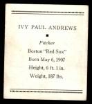 1933 Tattoo Orbit R305  Ivy Andrews   Back Thumbnail
