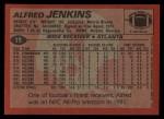 1983 Topps #19  Alfred Jenkins  Back Thumbnail