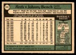 1979 O-Pee-Chee #101  Johnny Bench  Back Thumbnail