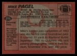1983 Topps #215  Mike Pagel  Back Thumbnail