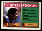 1983 Topps #206   -  Everson Walls Interception Leaders Front Thumbnail