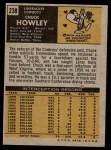 1971 Topps #238  Chuck Howley  Back Thumbnail