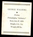 1933 Tattoo Orbit R305  Rube Walberg   Back Thumbnail