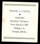 1933 Tattoo Orbit R305  Lefty O'Doul  Back Thumbnail