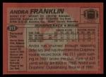 1983 Topps #313  Andra Franklin  Back Thumbnail