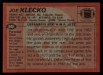 1983 Topps #346  Joe Klecko  Back Thumbnail