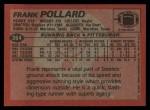 1983 Topps #364  Frank Pollard  Back Thumbnail