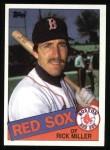 1985 Topps #502  Rick Miller  Front Thumbnail