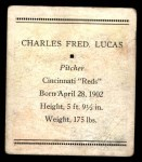 1933 Tattoo Orbit R305  Red Lucas   Back Thumbnail