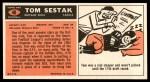 1965 Topps #40  Tom Sestak  Back Thumbnail