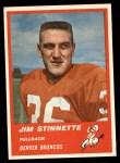 1963 Fleer #78  Jim Stinnette  Front Thumbnail