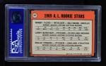 1969 Topps #597   -  Rollie Fingers / Bob Floyd / Larry Burchart AL Rookies Back Thumbnail