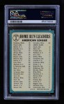 1965 Topps #3   -  Mickey Mantle / Harmon Killebrew / Boog Powell AL HR Leaders Back Thumbnail