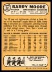 1968 Topps #462  Barry Moore  Back Thumbnail