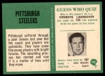 1966 Philadelphia #144   Steelers Team Back Thumbnail