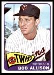 1965 Topps #180  Bob Allison  Front Thumbnail