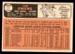 1966 Topps #297  Jim Owens  Back Thumbnail