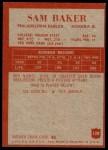 1965 Philadelphia #128  Sam Baker   Back Thumbnail