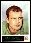1965 Philadelphia #128  Sam Baker   Front Thumbnail