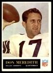 1965 Philadelphia #50  Don Meredith   Front Thumbnail