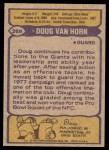 1979 Topps #269  Doug Van Horn  Back Thumbnail