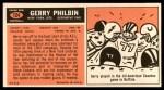 1965 Topps #124  Gerry Philbin  Back Thumbnail