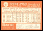 1964 Topps #454  Tommie Aaron  Back Thumbnail