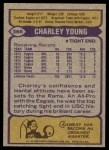 1979 Topps #366  Charley Young  Back Thumbnail