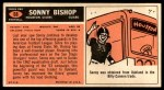 1965 Topps #68  Sonny Bishop  Back Thumbnail