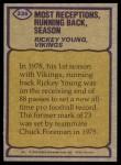 1979 Topps #336   -  Rickey Young Record Breaker Back Thumbnail