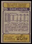1979 Topps #460   -  Dave Casper All-Pro Back Thumbnail