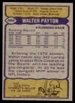 1979 Topps #480  Walter Payton  Back Thumbnail
