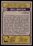 1979 Topps #363  Bill Bryan  Back Thumbnail