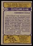 1979 Topps #410  Cleveland Elam  Back Thumbnail
