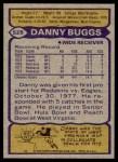 1979 Topps #528  Danny Buggs  Back Thumbnail