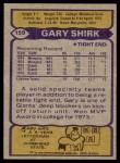 1979 Topps #159  Gary Shirk  Back Thumbnail