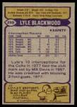 1979 Topps #299  Lyle Blackwood  Back Thumbnail