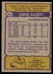 1979 Topps #434  Lenvil Elliott  Back Thumbnail