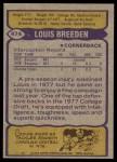 1979 Topps #474  Louis Breeden  Back Thumbnail