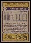 1979 Topps #391  Randy Grossman  Back Thumbnail