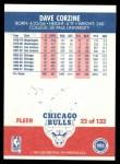 1987 Fleer #22  Dave Corzine  Back Thumbnail
