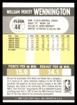 1990 Fleer #44  Bill Wennington  Back Thumbnail