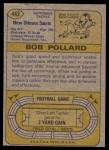 1974 Topps #442  Bob Pollard  Back Thumbnail
