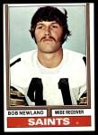 1974 Topps #179  Bob Newland  Front Thumbnail