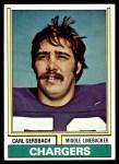 1974 Topps #202  Carl Gersbach  Front Thumbnail